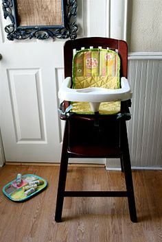 High Chair Seat Cover Tutorial