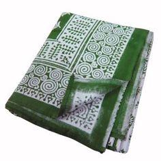 Handgefertigt Baumwoll Bettücher mit Blockdruck Weihnachts Dekoration 218 cm x 264 cm: Amazon.de: Küche & Haushalt