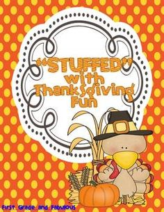 Stuffed With Thanksgiving Fun math and literacy centers for first grade
