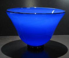 Cobalt Blue. Cobalt Blue Glass bowl. Hand Blown Glass Bowl.  #glass #cobalt_blue