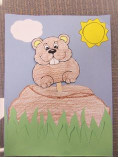 Craft Monday - Groundhog Day Craft