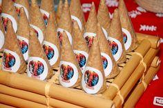 cones de brigadeiro #Ninja #Ninjago #Lego #boutiquefestas Boutique Festas