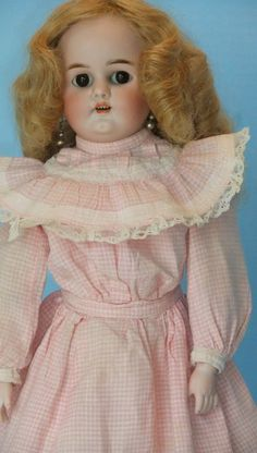 """Simon Halbig German Doll DEP  Bisque Head  Kid Body 17"""" Includes A Wardrobe"""