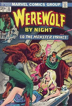 Werewolf By Night #14, february 1974, cover by Mike Ploog.