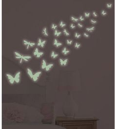 Butterfly Glow-in-the-Dark Peel & Stick Wall Decals