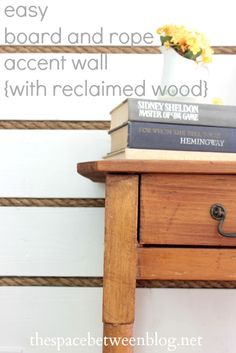 board and rope accent wall tutorial