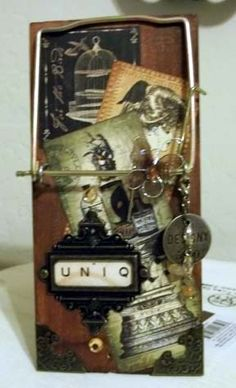 Altered Art Rat Trap Photo Holder