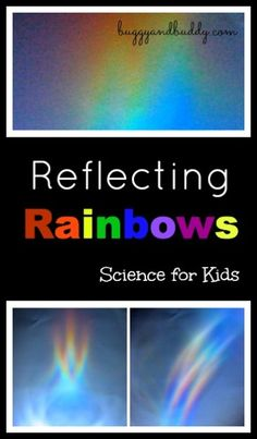 Reflecting Rainbows~ Easy and super fun science experiment to do with kids! (Science Invitation Saturday)