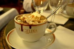 The hot chocolate at Angelina, Paris. EVERYONE should have at least one cup of this in their lifetime!