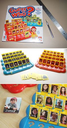 DIY: Make a personalized version of Guess Who with family members. Fun game for the holidays! http://www.instructables.com/id/Personalized-Guess-Who/?ALLSTEPS