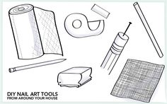 DIY Nail Art Tools From Around Your House