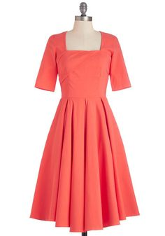 Good as Bold Dress. Your vibrant personality is something to be treasured, much like this coral dress! #coralNaN