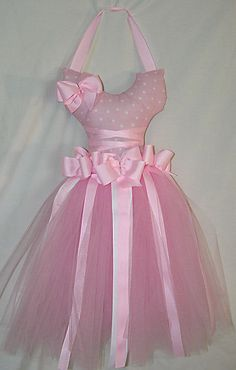 Pink and White Tutu bow holder