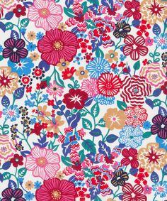 lawns, cornwall gardens london, liberti print, beth flower, tana lawn, art fabric, flowers, liberty of london, floral