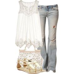 Very cute! It would look better if the jeans were a little nicer and not as worn out!:)