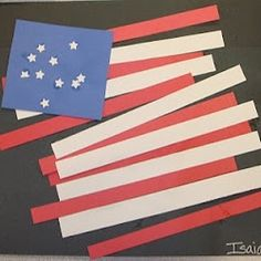 flag, toddler crafts, july crafts, memorial day, 4th of july, kindergarten projects, preschool, patriotic crafts, construction paper
