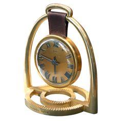 Vintage Acanthus and Acorn: Equestrian Inspired Decor Hermes rare stirrup clock