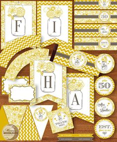 50TH Wedding Anniversary Party Printable Package by MamaMoonlights, $20.00