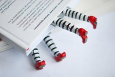 I love these!  Set of two bookmarks Wicked witch in the book by MyBookmark