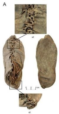 World's oldest leather shoe (3500 B.C)  found in almost perfect condition in a cave in Armenia two years ago.    @DeborahPerham