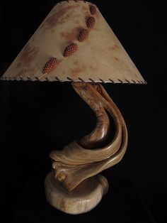 Twisted Log Furniture Juniper Table Lamp by rockymountaintwist