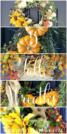 5 Fall Wreaths that are all DIY!