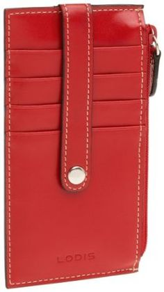 "Lodis Audrey 5"" Card Case with Zipper"