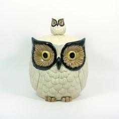 Vintage 1960s Large Otagiri Owl Cookie Jar, $85 from Bliss Vintage on Etsy