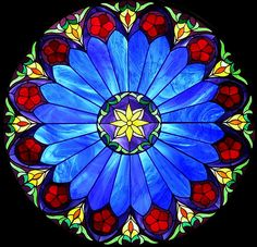 Stained glass.....