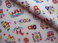 Japanese Fabric Cotton - Matryoshka Palace - Fat Quarter. $4.00, via Etsy.