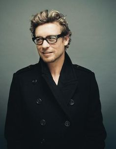 Simon Baker. Thanks @Jane Izard Daly Berry, this may be one of my favorite photos of him that I have seen!