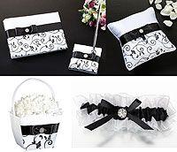 Lillian Rose Black on White Wedding Collection