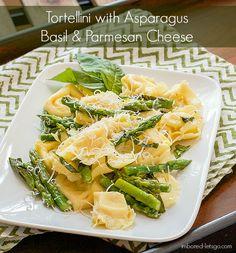 Tortellini with Asparagus, Basil & Parmesan Cheese