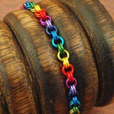 Petite Rainbow Chainmaille Bracelet KIT  by UnkamenSupplies, $15.00