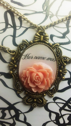 Her name was Rose- Doctor Who inspired necklace. $8.00, via Etsy.