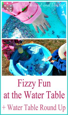 A fizzy and fun baking soda and vinegar activity at the water table plus more great ideas for water table activities.