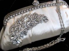 Bridal clutch Victorian evening bag Ivory by BijouxandCouture, $88.00