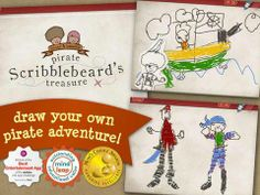 FREE app for kids (limited time only!): Pirate Scribblebeard's Treasure - Appysmarts score: 82/100