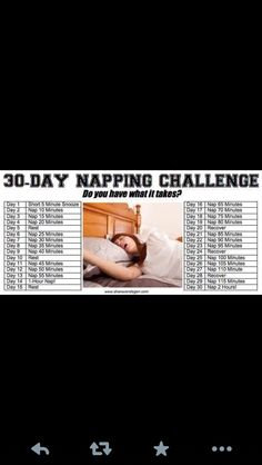 30 day napping challenge