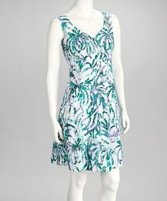 Take a look at this Green V-Neck Dress by SoHo Chick on #zulily today!