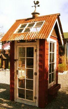 Rustic garden shed by  Bob Bowling Rustics, http://bobbowlingrustics.homestead.com/index.html #recycle