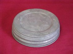 "WIDE Mouth Jar Lid - ZINC 3 1/4"" diameter at $1.65 each"