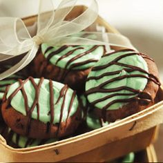 Chocolate Peppermint Shortbread Cookies Recipe from Land OLakes