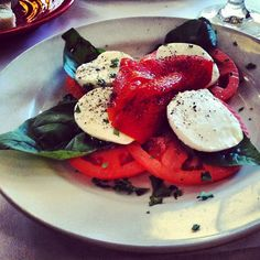 Caprese Salad. For more low calorie meal ideas, follow my instagram! @robolikes