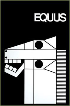 Theater poster for Equus by Peter Shaffer, Tony winner for Best Play 1975