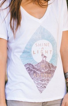 Shine a light on autism! This shirt is sold exclusively at #Sevenly and donates $7 to Autism Speaks