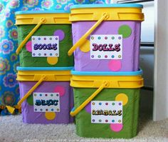 Recycle cat litter containers