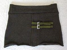 cute skirt from felted merino cardigan.