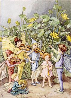 """Cicely Mary Barker , """"The Fairy Orchestra"""""""