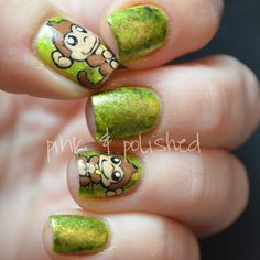 ... monkey polish nail nail nailart nail design polished nails nail art
